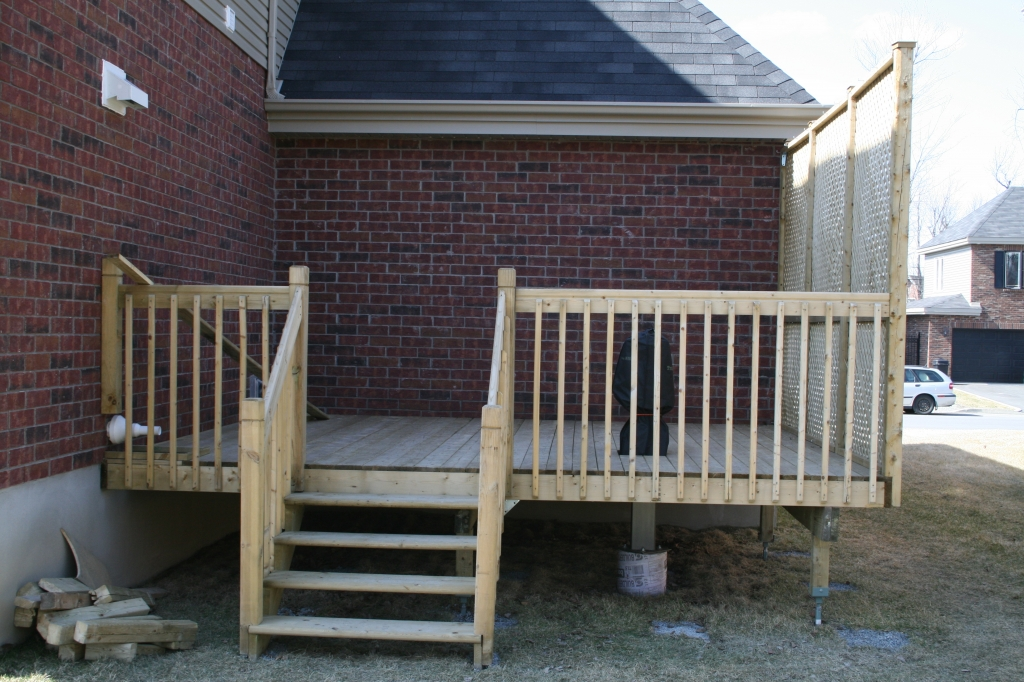 Completed Deck with Pier