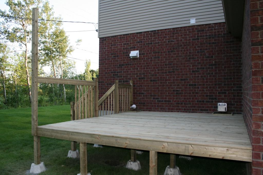 Deck under contruction